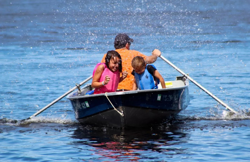 Boating at Holiday Acres Resort.