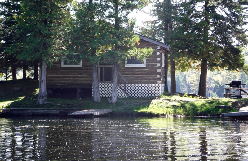 Cabin exterior view of Fernleigh Lodge.