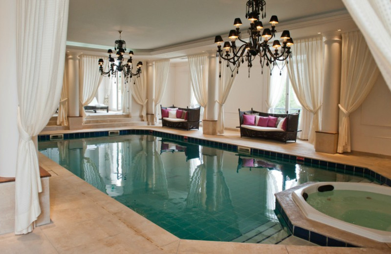 Indoor pool at Chateau Hotel Mont Royal.