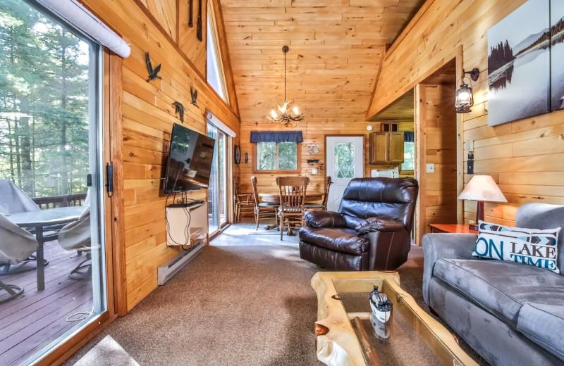 Rental living room at Hiller Vacation Homes.