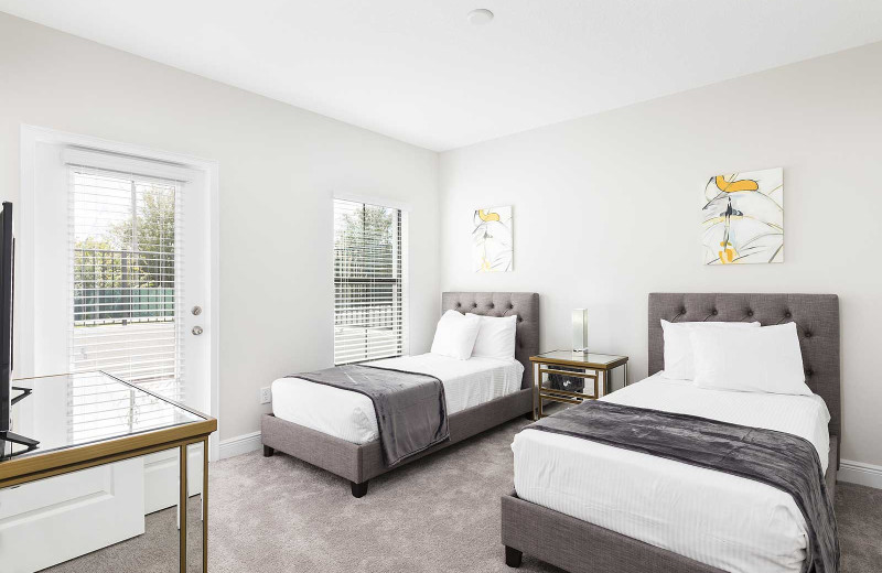 Rental bedroom at Balmoral Resort.