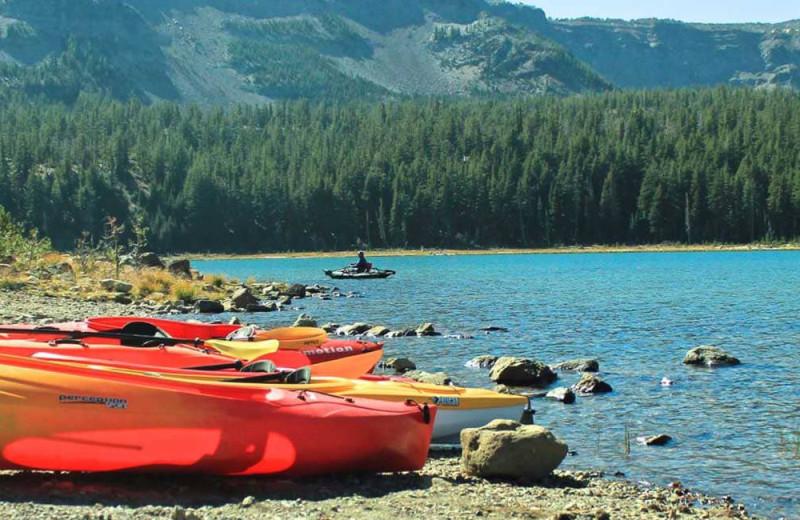 Kayaking at Sisters Vacation Rentals.