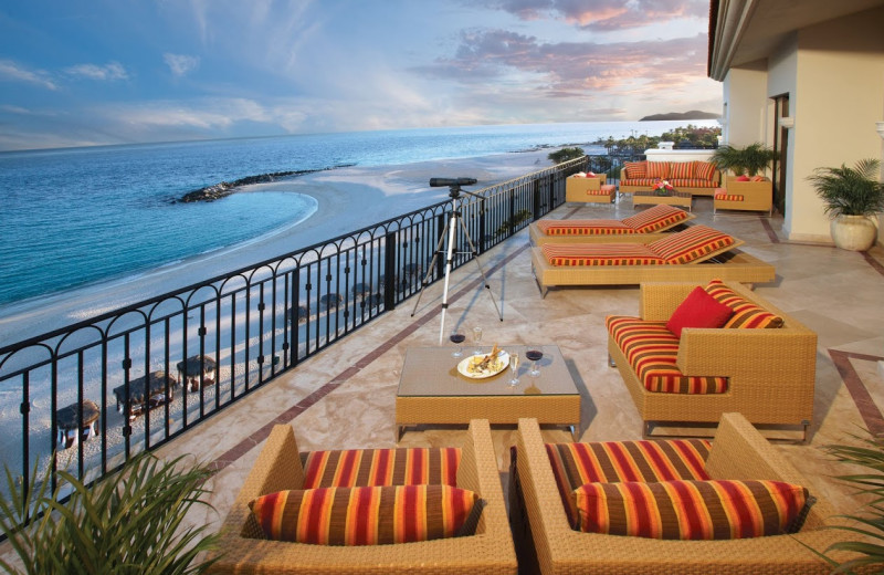 Outdoor lounge at  Los Cabos Resort.