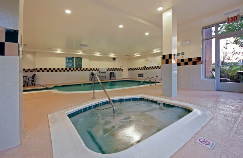 Indoor pool at Hilton Garden Inn Plymouth.