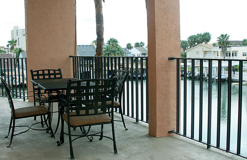 Balcony view at WindWater Hotel & Resort.