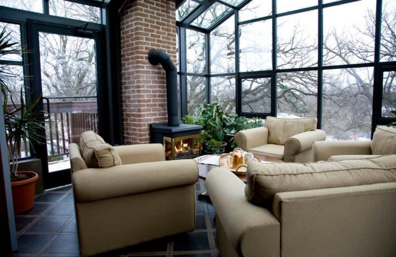 Living room view at Rosewood Bed & Breakfast Inn.