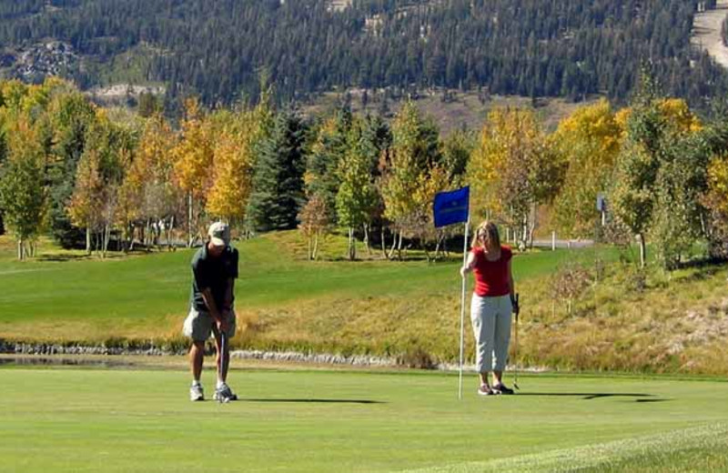 Golfing near 1849 Condos at Canyon Lodge.