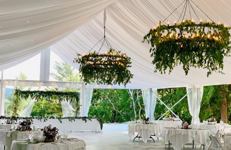 Wedding reception at Wilburton Inn.