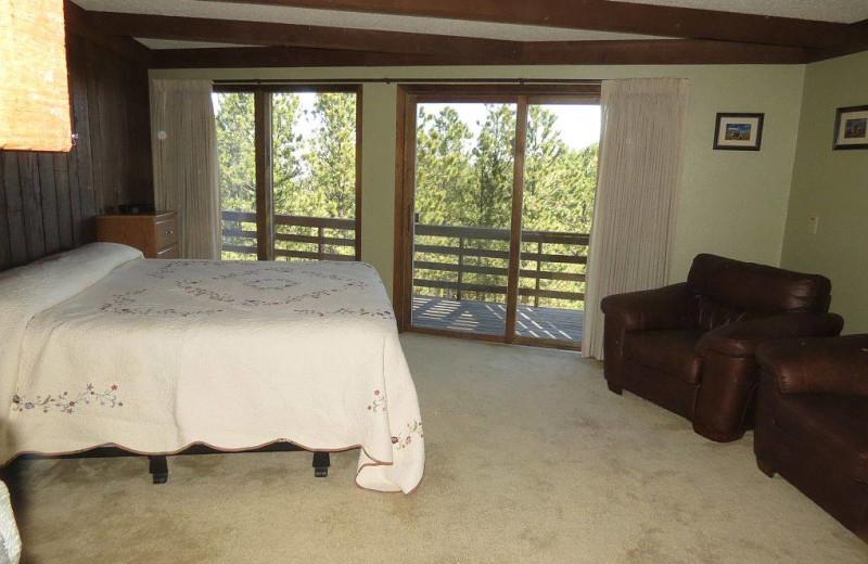 Rental bedroom at Edelweiss Mountain Lodging.