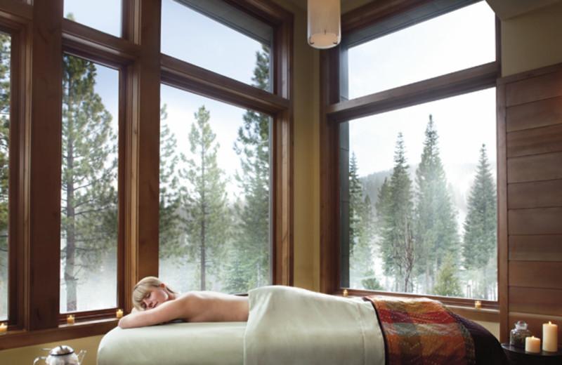 Spa massage at Ritz-Carlton Lake Tahoe.