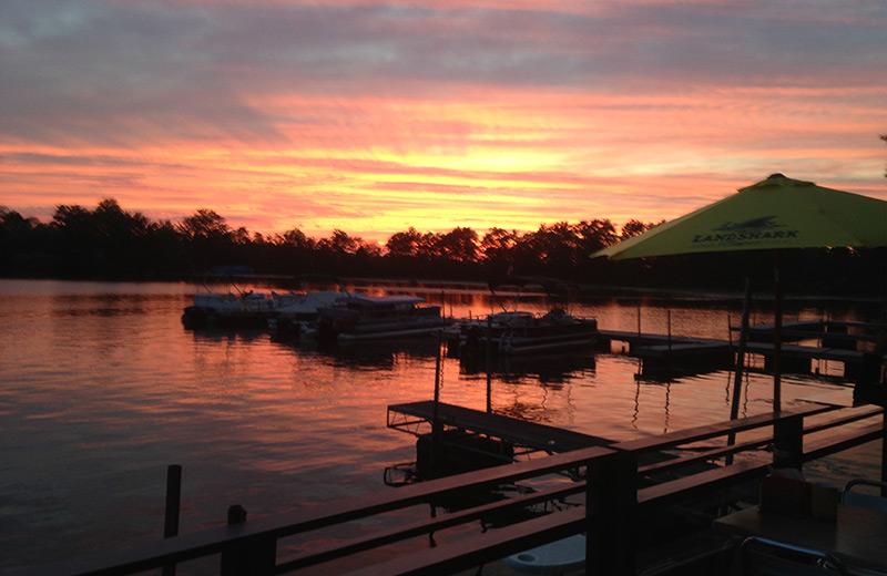 Lake view at Edinboro Lake Resort.
