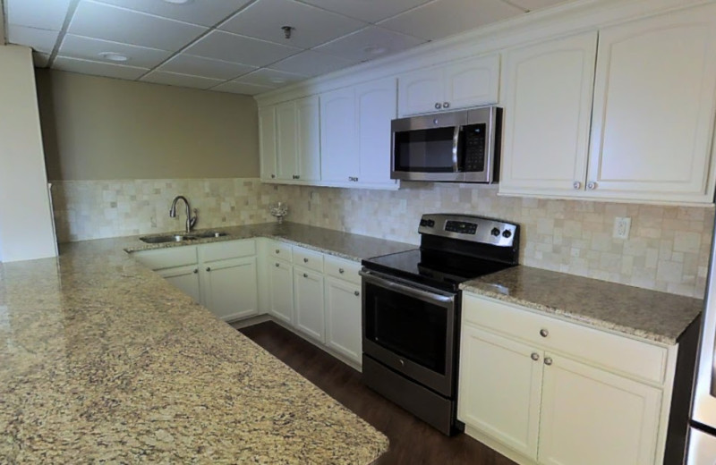 Group kitchen at The Islander in Destin.