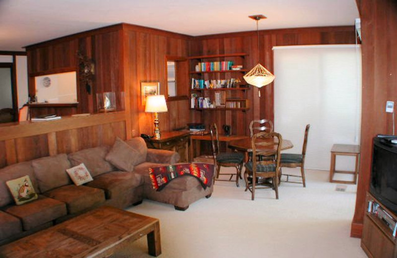 Vacation rental living room at Chinquapin.