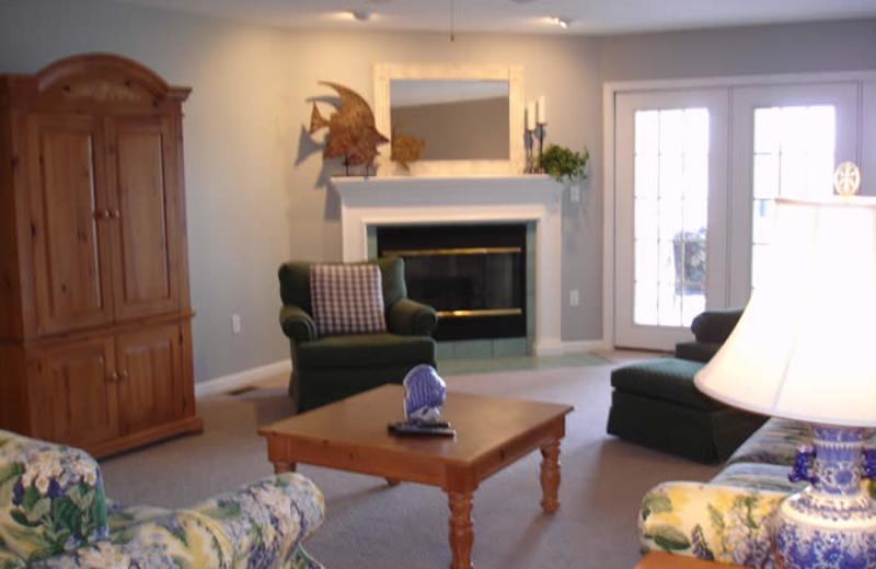 Condo living room at Big Bear Resort.