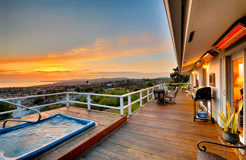 Rental deck at Seabreeze Vacation Rentals, LLC-Orange County.