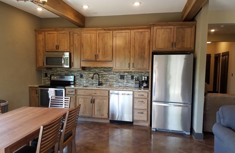 Guest kitchenette at Antlers Resort.