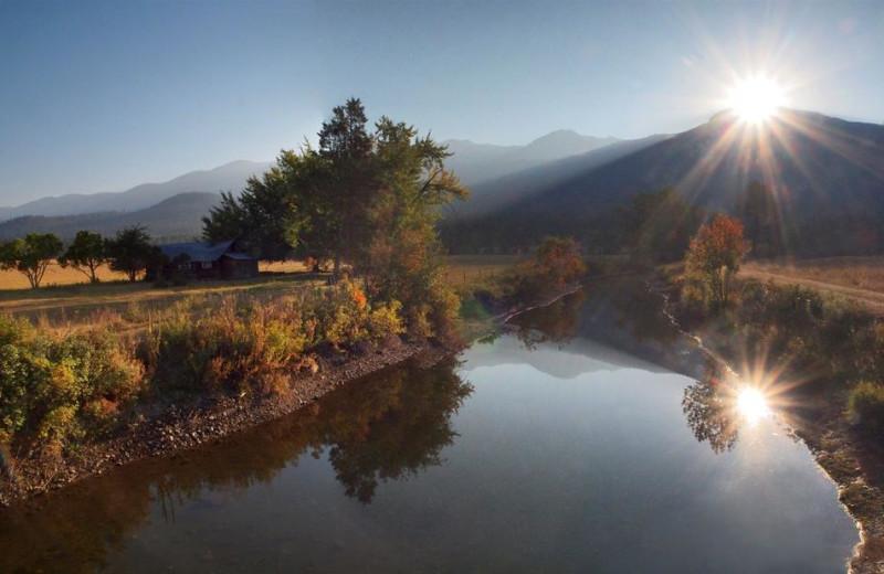 Scenic view at Ninepipes Lodge.