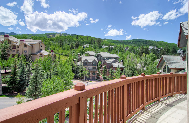 Rental balcony view at Beaver Creek Rentals by Owner.