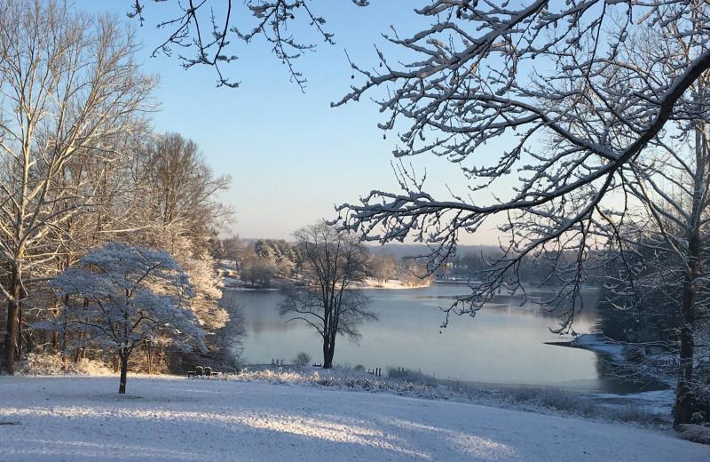 Winter at Chateau Lake Logan.