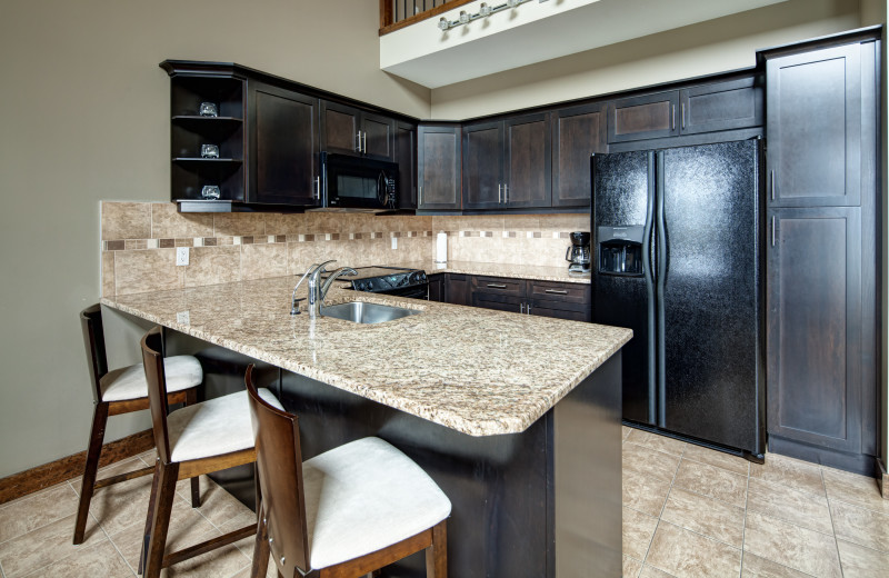 Guest kitchen at Bighorn Meadows Resort.