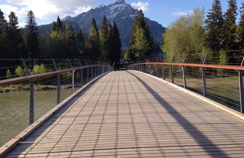 Mountain view at Banff Rocky Mountain Resort.