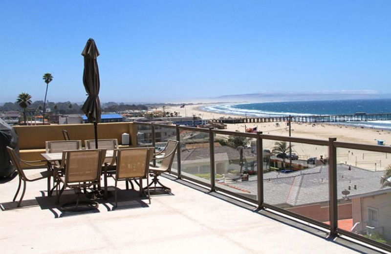 Rental deck at Coastal Vacation Rentals.