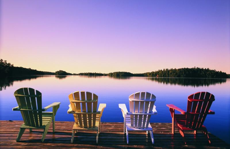 Lake view at Severn Lodge.