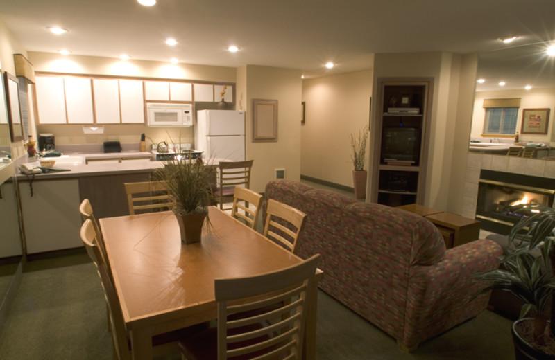 Suite interior at Whispering Woods Resort.