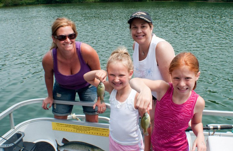 Kids Fishing at  Eagle Ridge Resort
