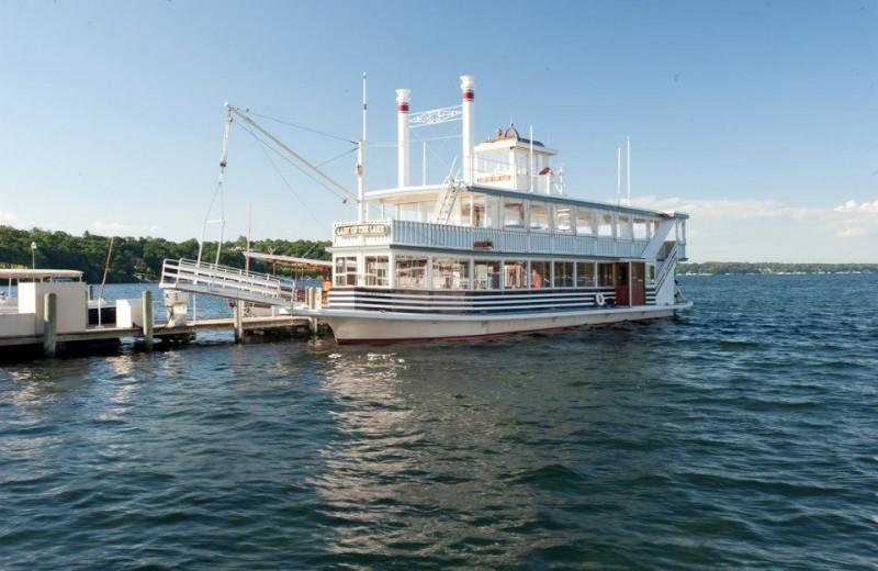 Boating at The Cove of Lake Geneva.