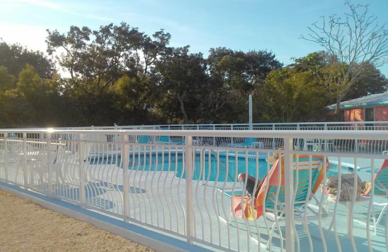 Outdoor pool at Rock Reef Resort.