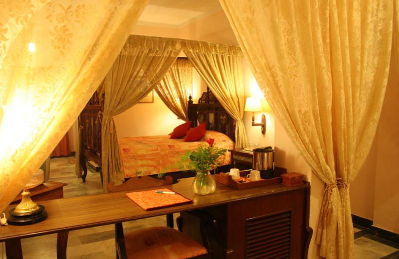 Guest room at Karni Bhawan.