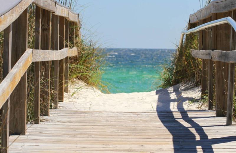 Beach at Paradise Gulf Properties.