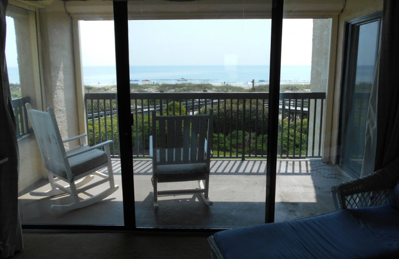 Rental balcony at Amelia Island Rentals, Inc.