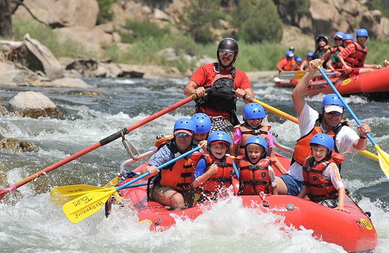 Rafting near Grand Colorado on Peak 8.