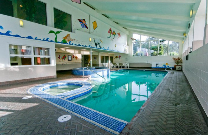 Indoor pool at Hallmark Resort in Cannon Beach.