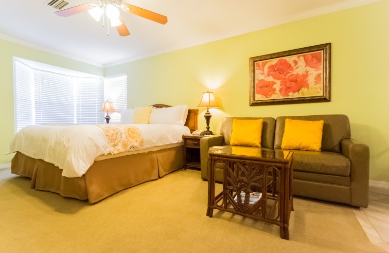Guest room at Tropical Shores Beach Resort.