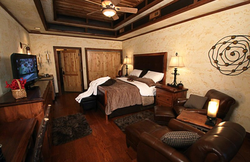 Luxury guest room at Stonewater Cove Resort.