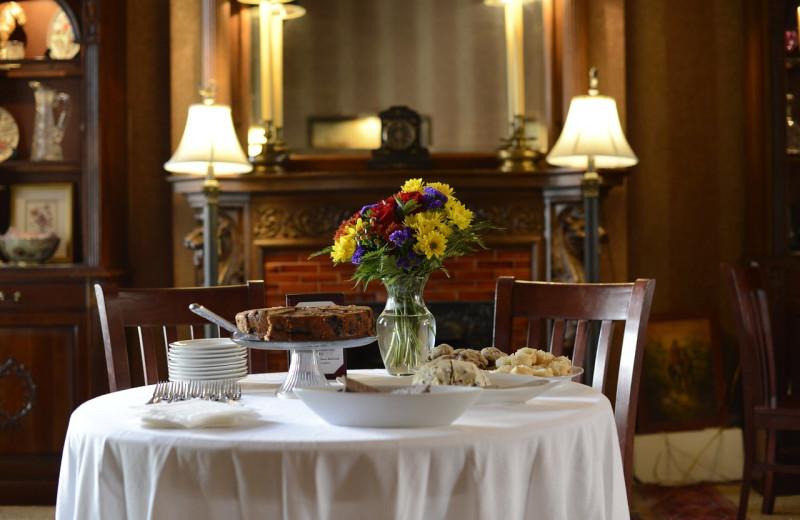 Dining at Foley House Inn.