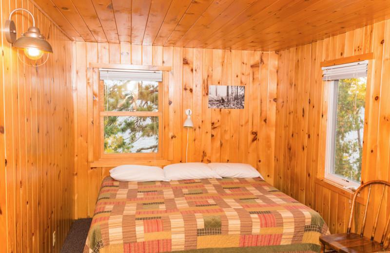 Cabin bedroom at White Eagle Resort.