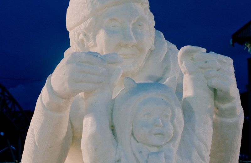 Snow sculpture at Summit Vacations.