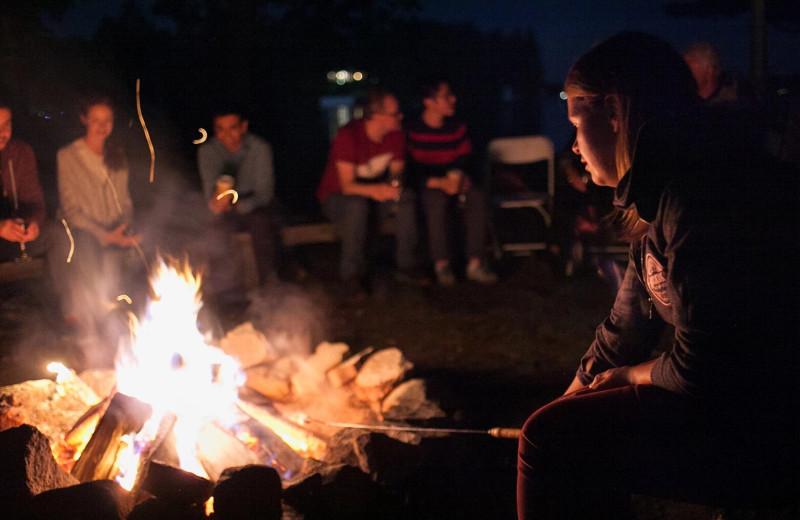 Bonfire at Sherwood Inn.