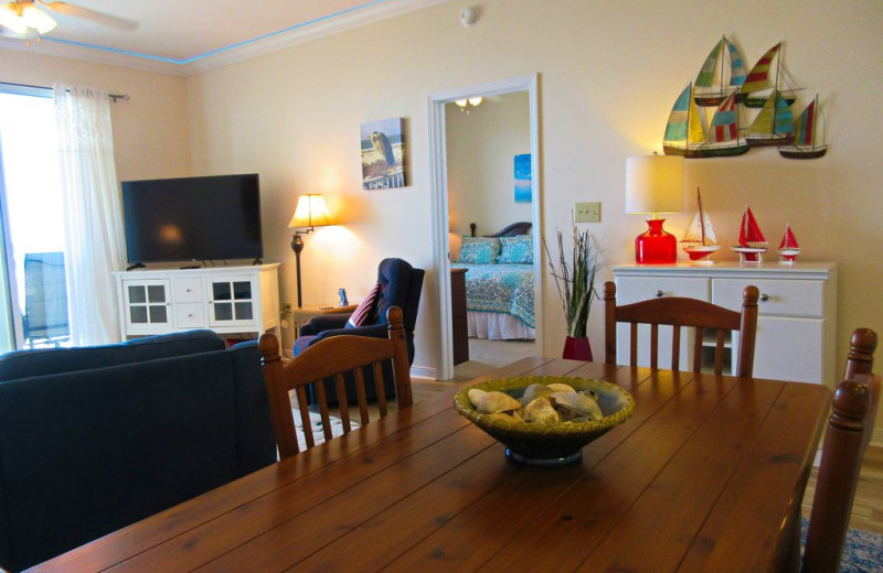 Rental interior at Beachfront Rentals.