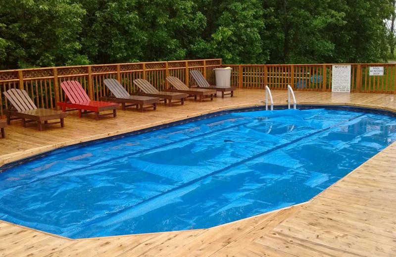 Outdoor pool at Evergreen Resort.