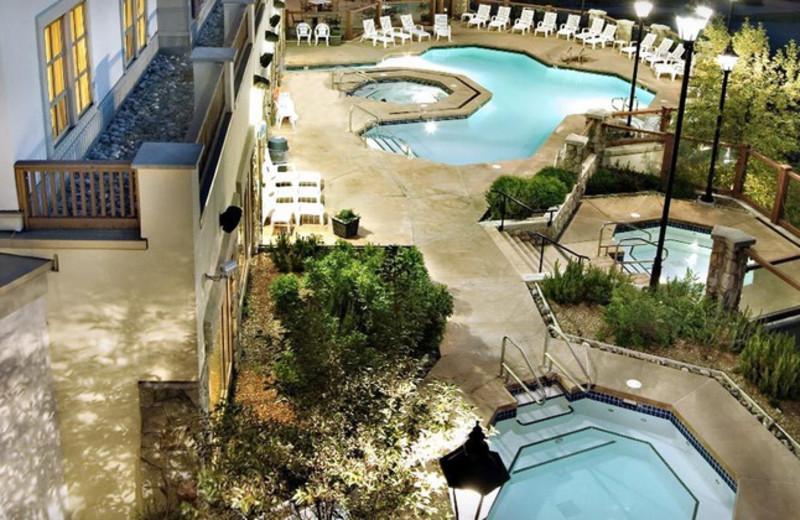 Outdoor pool at Delta Sun Peaks Resort.