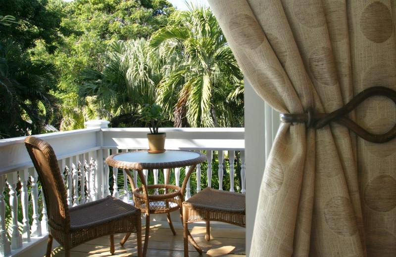 Balcony at Mermaid & Alligator Key West.