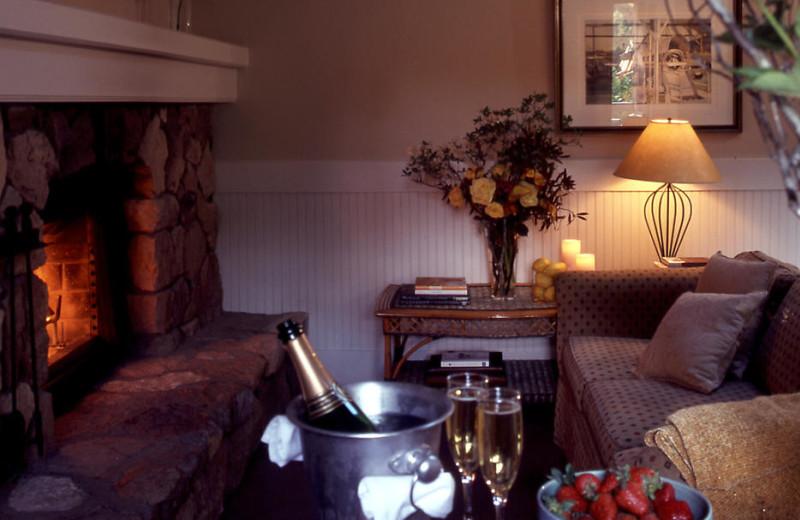 Suite interior at Meadowood Napa Valley.