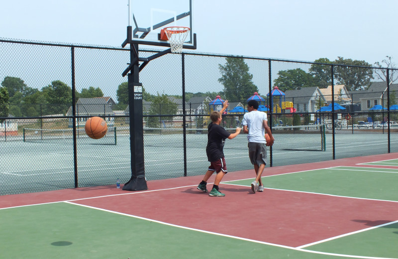 Basketball court at Sandbanks Summer Village Cottage Resort.