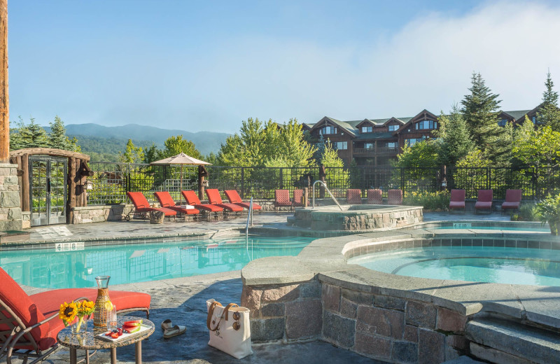 Outdoor pool at The Whiteface Lodge.