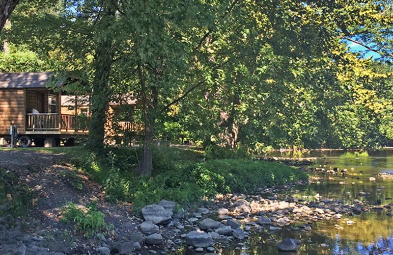 Cabins at Yogi Bear's Jellystone Park Gardiner.